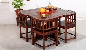 Get This Amazing Space Saving 4 Seater Dining Table Set Online And Have Gorgeous Dining Dining Room Small Space Saving Dining Table Small Dining Room Table