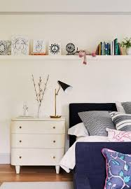 Long Shelf Over Kids Bed Transitional Girl S Room