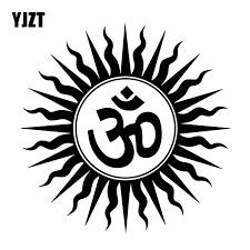 Yjzt 15 7cm 15 7cm Vinyl Decal Mysterious Om Hindu Religious India Sanskrit Symbol Car Sticker Black Silver C27 0262 Car Stickers Aliexpress