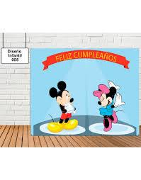 Diseno De Infantil De Mickey Y Minnie Mouse Tu Fiesta Mola Mazo