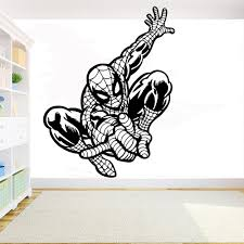 Cartoon Comics Superhero Diy Wall Sticker Poster Spiderman Wall Decal Vinyl Wall Decoration Kids Room Decor Removable Mural Name Wall Stickers Nursery Decals From Joystickers 11 75 Dhgate Com