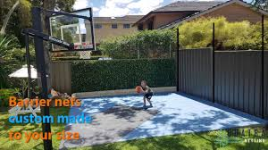 Ball Stop Barrier Netting Basketball Haverford Com Au Youtube