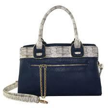 snakeskin leather tote bag zip detail
