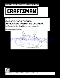 craftsman garage door opener 139 53992
