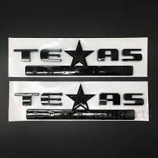 Auto Parts And Vehicles 2pcs Metal Black Texas Edition Star Flag Car Trunk Emblems Badge Decal Sticker Car Truck Emblems