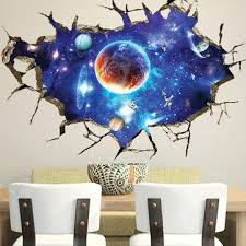 3d sticker outer space wall stickers