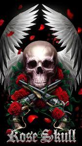 rose skull wallpapers top free rose
