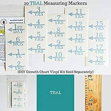 Amazon Com Little Acorns Add On Diy Vinyl Growth Chart Ruler Height Marker Arrows Only Toys Games