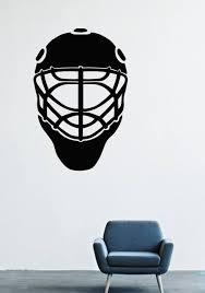 Amazon Com Wall Decals Decor Vinyl Sport Hockey Goalie Mask Holes Friday 13 Kliushke Washer Game Canada Lm0548 W22 H35 Home Kitchen