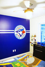 Baseball Wall Mural Hand Painted Murals By Adrienne Of Aboutmurals Ca Boys Blue Bedroom Decor Baseball Wall Baseball Bedroom