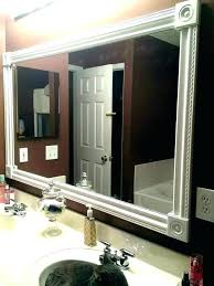 mirror frame kits copper bathroom ideas
