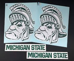 Nudge Printing Michigan State University Msu Spartans Sparty Corn Hole Bean Bag Toss Tailgate Game Xl Car Vinyl Stickers Decals Set Tailgating Toss Games