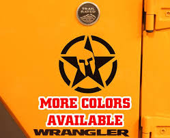 The Spartan Star Vinyl Decal Sticker Jeep Car Truck Mile High Campers