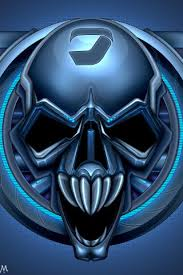 blue skull iphone wallpapers