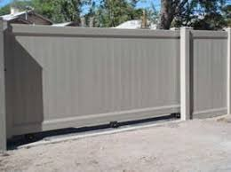 12 Duragrain Adobe Color Roller Gate Vinyl Gates Privacy Fence Landscaping Landscaping Screen