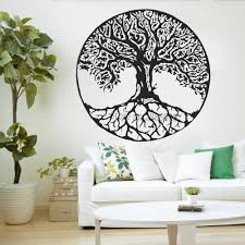 Tree Of Life Wall Decals Vinyl Large Tree Wall Stickers Trees Wall Decor Kabbalah Symbol Art Murals Wallpapers Yoga Room Lc998 Wall Stickers Aliexpress