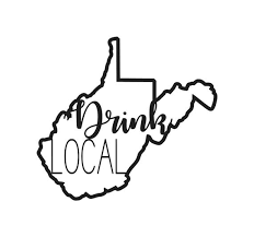 Drink Local Decal West Virginia Wvu Home Wv Wv Decal Wv Etsy