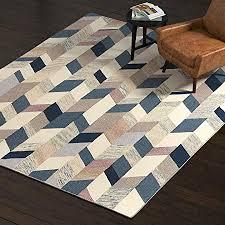 rivet modern geometric wool area rug 8