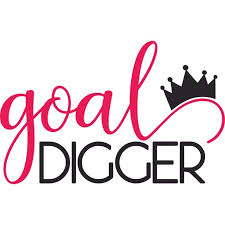 Goal Digger Crown Woman Women Female Customized Wall Decal Custom Vinyl Wall Art Personalized Name Baby