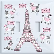Double Toggle Poodle In Paris Light Switch Plate Covers For The Wall Paris Room Decor Walmart Com Walmart Com