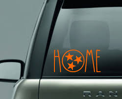 Tennessee Tristar Decal Car Decal Rae Dunn Inspired Car Decal Home Tristar Tennessee Tri Star Vols Cute Car Decals Vinyl Show Tennessee Tristar