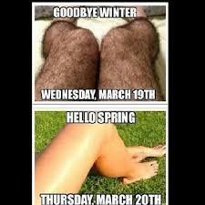 goodbye winter wednesday th hello spring thursday th