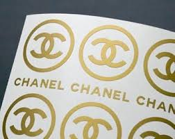 Chanel Inspired Stickers Matte Leaf Set Of 12 2 6 Giant Shoe Boxes Chanel Stickers Chanel Decor Chanel Stickers Logo
