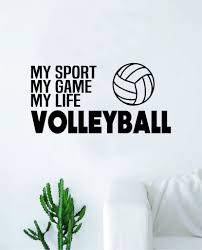 Volleyball My Sport Game Life Wall Decal Sticker Vinyl Art Bedroom Roo Boop Decals