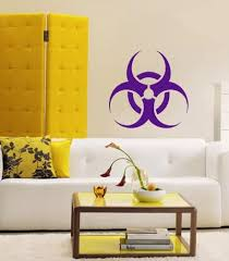 Amazon Com Housewares Vinyl Decal Biohazard Symbol Wall Art Decor Removable Stylish Sticker Mural Unique Design For Any Room Kitchen Dining