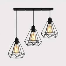 metal wire frame pendant lamp kitchen