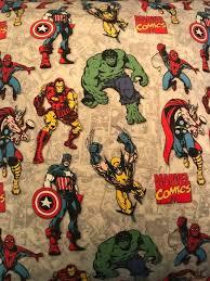 Marvel Comics Valance Cotton Fabric Kids Room Childrens Etsy