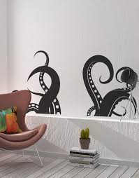 Amazon Com Giant Octopus Tentacles Wall Decal Sticker Black 27 X 60 Great For Living Room Bathroom Or Bedroom Decor Os Mb316 Arts Crafts Sewing