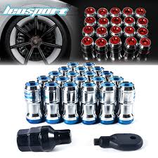 racing sports car lug wheel nuts