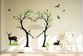 Amazon Com Tree Deer Wall Decal Love Tree Bird Wall Decal Tree Deer Decal For Nursery Wall Stickers Living Room Wall Decor Furniture Decor
