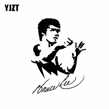Yjzt 10 3cm 14 2cm Bruce Lee Cartoon Car Sticker Art Kung Fu Vinyl Decal Black Silver C3 0046 Car Stickers Aliexpress