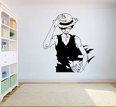 One Piece Wall Vinyl Decal Top Anime Wall Art Monkey Anime Wall Art Vinyl Wall Decals Sticker Decor