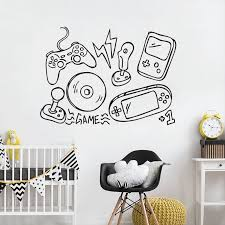 Games Wall Sticker Video Game Controller Vinyl Wall Decal Boys Play Room Decor Gamers Style Wall Art Mural Vinyl Art W186 The Divine Diva Shop