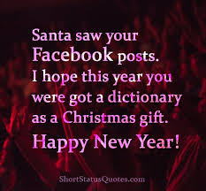 happy new year facebook status captions messages