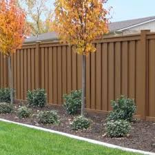 Trex Seclusions 6 Ft X 6 Ft Saddle Brown Wood Plastic Composite Board On Board Wood Fence Design Privacy Fence Panels Privacy Fence Landscaping