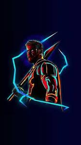 thor neon avengers infinity war iphone