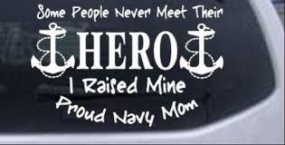 Hero Proud Navy Mom Decal Motherproud