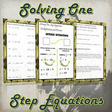 solving one step equations using