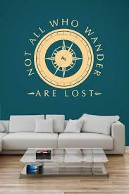 Wandering Compass Wall Decal Wall Quote Decals