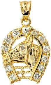 lucky horse head pendant necklace