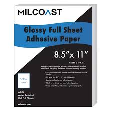 Milcoast Full Sheet 8 5 X 11 Shipping Sticker Paper Adhesive Labels Glossy Water Resistant For Laser Or Inkjet Printer 100 Full Sheet Walmart Com Walmart Com