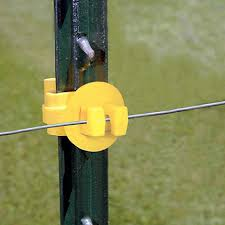Standard Snug Fit T Post Yellow Electric Fence Insulators Zareba