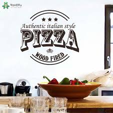 Creative Pizza Art Vinyl Wall Decals Pizza Shop Window Sticker Home Decoration For Restaurant Kitchen Yummy Food Wallpaper Qq418 Wall Stickers Aliexpress