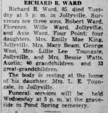 Obituary for RICHARD R. WARD (Aged 85) - Newspapers.com