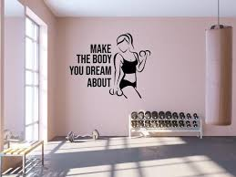 Fitness Decor Art Quotes Gym Stickers Fitness Wall Art Gifts Etsy Vozeli Com