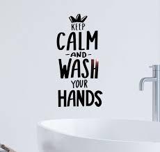 Wall Decal Bathroom Keep Calm Wash Your Hands Vinyl Decor Gz427 Wallstickers4you